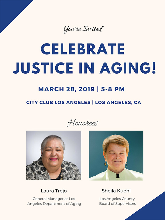 Invitation to Justice in Aging's 2019 Fundraising Celebration
